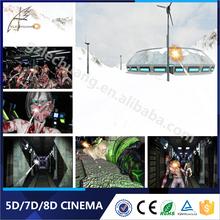 New Product Theme Park Interactive Gun Shooting Game 7D Cinema Simulator