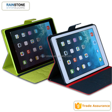PU leather book style folding stand cover for iPad mini 4 tablet case