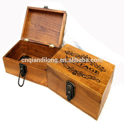 Varnishing Printing Handling gift box , Wooden Gift boxes , Wooden packaging boxes
