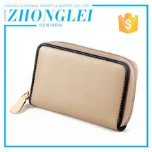 Elegant Top Quality Portable Card Leather Case With Clip And Hand Holders For Waiter