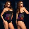 015 Latex Waist Training Corsets Sexy Underust Waist Cincher Rubber corsets Body Shape Wear steel boned corset