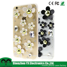 flower crystal decorative handmade mobile cover for iphone 6s / 6s plus phone