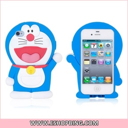 Doraemon Shaped Protective Case for iphone 4 4S Blue