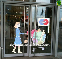 Hot sale full color printing advertising wall mirror sticker