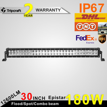 Good price !! 12600lm 30 inch led light bar , dual rows 180w led light bar for off road trucks led driving light bar