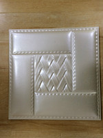 3D design leather carving integrated backgroud ceiling