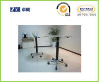 One leg tea table side table with height adjust