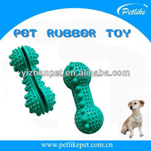 Alibaba express best selling products dog bone granule leakage food toy for pets puppies bite resistant rubber chew toy
