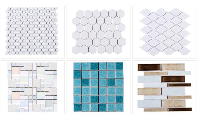 Witte mozaiek tegels keuken charmante hoekkeuken decorontwerp met witte verf kabinet keuken - Wanddecoratie badkamertegels ...