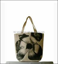 2015 Fashion Heavy Duty Eco-friendly Cheap 100% Cotton Custom Printed Beach Canvas Bag For Tote Bag