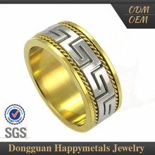 Fashionable Design Custom Engrave The Female Long Gold Rings