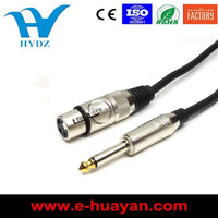 20FT Female XLR to 6.35MM MONO Cable