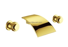 Gold Two Handles Bath Shower Faucet Tap (86H18-G)