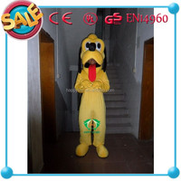 HI CE Promotion custom made Yellow Dog mascot costumes for sale