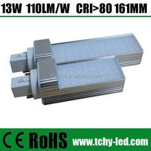 4pins g24 pl 9w 6400k light 110lm/W G23 G24 GX23 GX24