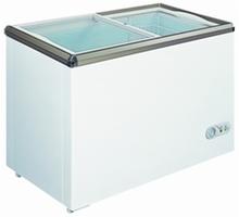 150 L china comercial Top Glass Door Chest Freezer con ETL
