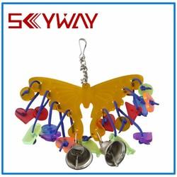 Yellow butterfly pet terrific bird toys