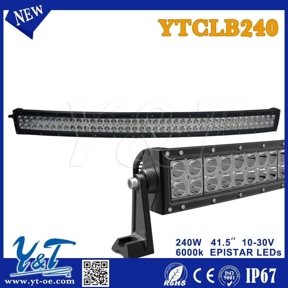 240W 41.5 inç kavisli led çalışma ışığı bar nokta sel combo ışın offroad 4wd atv UTV kamyon römork 4x4 araba sürüş ışık led