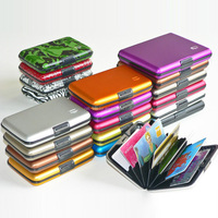 cheap 2015 new style Aluminium plastic business card case