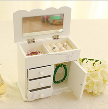 Custom Exquisite Big Lots Wooden Jewelry Box With Mirror