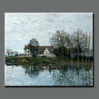 High quality pure hand-painted The famous Natural scenery paintin-alfred sisley painting
