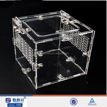 YAGELI acrylic dispaly case with clear lid clear acrylic pet box with lock,custom printed perspex terrarium box China mac