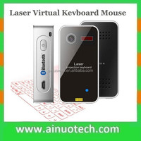 magic cube wireless laser virtual keyboard with mouse bluetooth connect to android ios smartphone, laptop, tablet pc