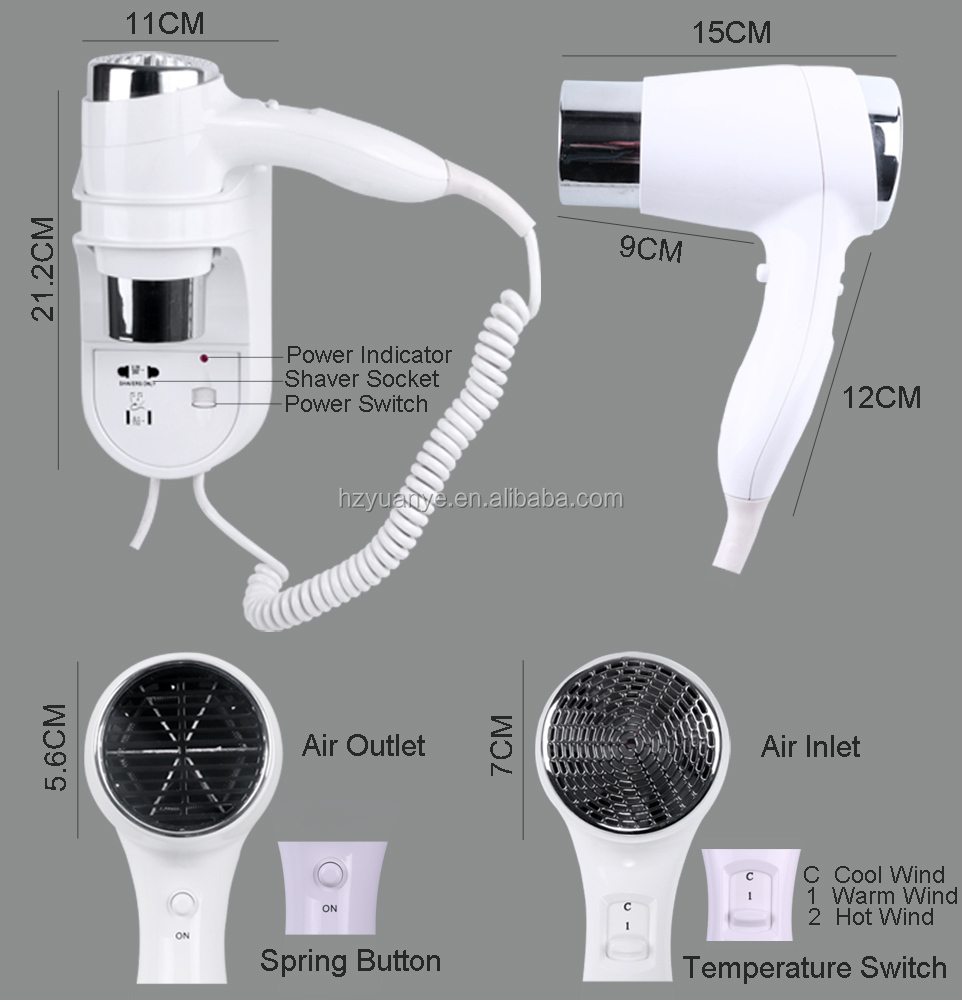 Hot selling Professional Wall Mounted Hair Dryer