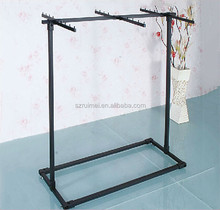 Floor Standing 6-Way Metal Clothes Display Stand for Shop