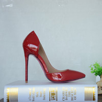 Spring&Autumn Women One Side Cut High Heel Shoes Hot Selling Pointed Toe Custom Made Women Shoe