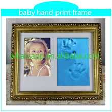 best selling handprint and footprint kit with frame mini metal photo frame high quality factory price