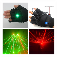 2015 Alibaba New Product RGB Laser gloves with red violet green laser beams DC line charge