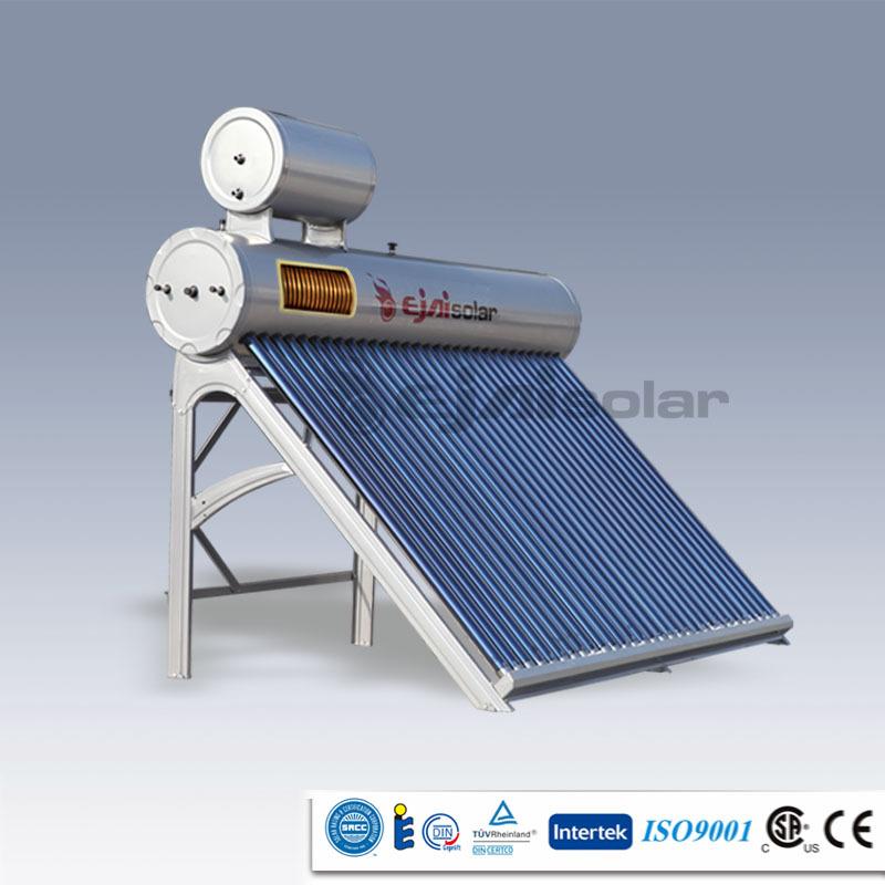 Portable Solar Water Heater : Portable homemade preheated copper coil solar energy hot