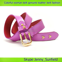 Pin buckle genuine leather belt colorful fashion woman belt