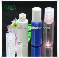 colorful own brand 4ml pet plastic roll on ball and holder bottle