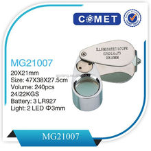 MG21007 folding LED Illuminated jewelry loupe,magnifier led light pen