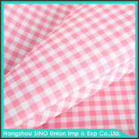 white red grid PVC coated waterproof oxford 600D polyester for bags