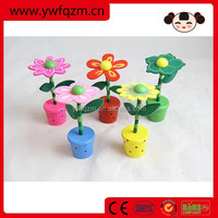 Wholesale Cheap Wooden Flower push button toy