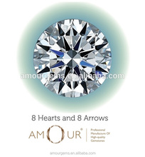 Excellent Eight Hearts & Eight Arrows Star Cut loose Gemstone Cubic Zirconia CZ