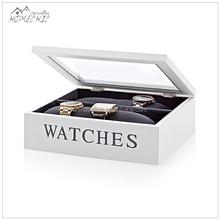 Custom wooden watch display box case for storage