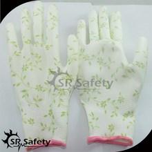 SRSAFETY 13 gauge PU garden glove/Garden working gloves