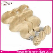 blonde top grade top wave indain remy hair weave