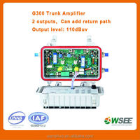 Venezuela ,Pakistan hot selling cable tv trunk amplifier 2 way out and 3 way out 42mhz to 860mhz