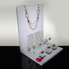Clear acrylic and velvet bracelet and necklace t-bar display stand