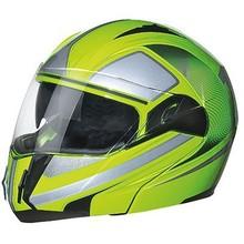 2015 New design racing dual visor motorcycle flip up helmet