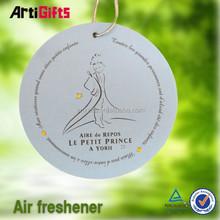 Free design absorbent custom car paper air freshener for promotion