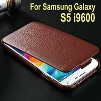 Made in china luxury design custom bulk phone case for Samsung Galaxy S5 I9600 using genuine leather