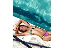 Halter Bikini With Zipper Top Level Transparent Promotional New Coming Cheap Young Girl Triangl Neoprene Halter Bikini