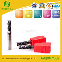 CNC lathe tungsten steel carbide flat diamond end milling cutter with coating by china supplier