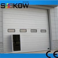 sectional industrial door ce certificated/pu insulated industrial door/industrial steel warehouse doors